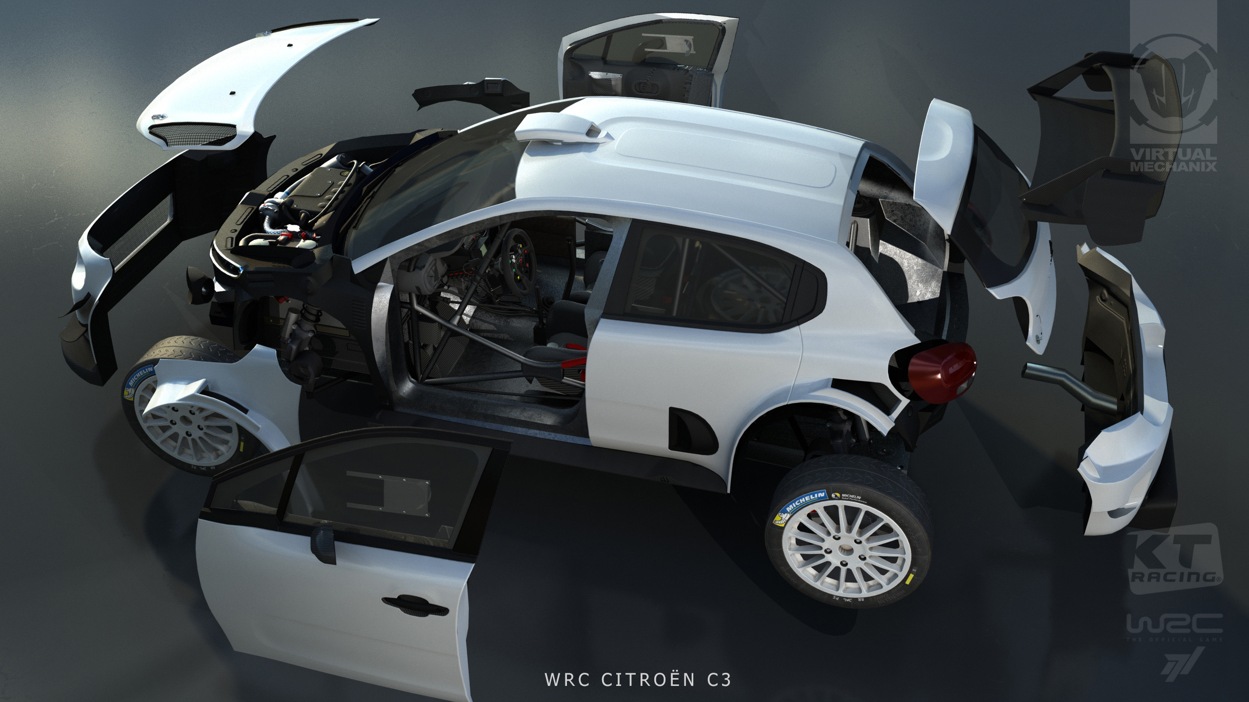 WRC7 Citroen C3 Exploded View